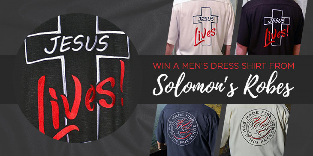 Win a Solomon's Robes 100% SILK EMBROIDERED Men's Dress Shirt